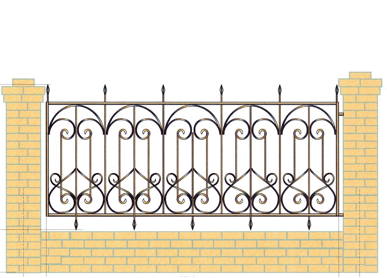 манипулятор забор с вензелями рисунок картинка могу