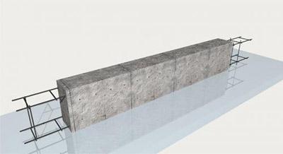 Бордюры, укрепленные стержнями металлической арматуры.
